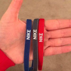 Nike set of 3 no-slip grip headbands